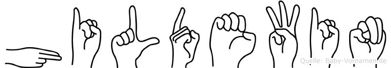Hildewin in Fingersprache für Gehörlose