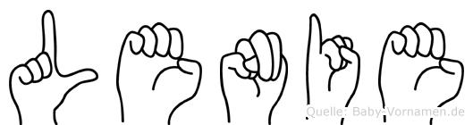 Lenie in Fingersprache für Gehörlose