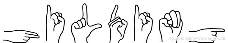 Hilding in Fingersprache für Gehörlose