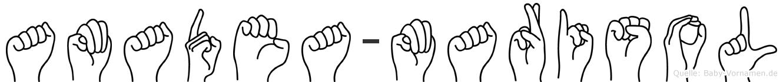 Amadea-Marisol im Fingeralphabet der Deutschen Gebärdensprache