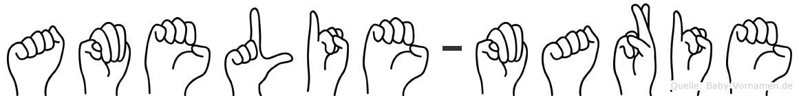 Amelie-Marie im Fingeralphabet der Deutschen Gebärdensprache