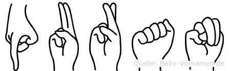 Puran in Fingersprache für Gehörlose