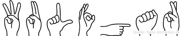 Wulfgar im Fingeralphabet der Deutschen Gebärdensprache