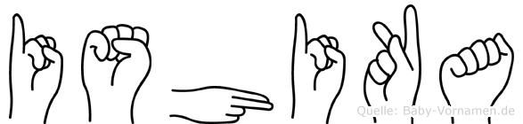 Ishika in Fingersprache für Gehörlose
