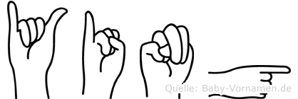 Ying im Fingeralphabet der Deutschen Gebärdensprache