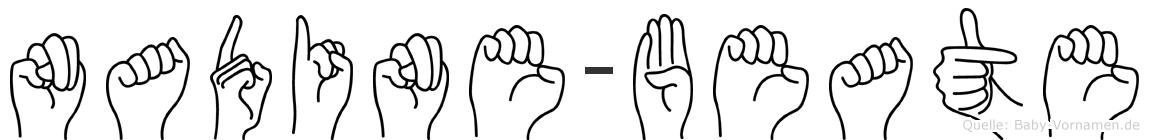 Nadine-Beate im Fingeralphabet der Deutschen Gebärdensprache