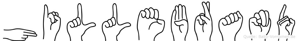 Hillebrand in Fingersprache für Gehörlose