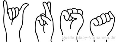Yrsa in Fingersprache für Gehörlose