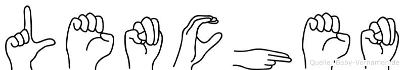 Lenchen in Fingersprache für Gehörlose