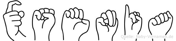 Xsenia im Fingeralphabet der Deutschen Gebärdensprache