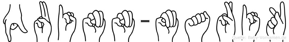 Quinn-Marik im Fingeralphabet der Deutschen Gebärdensprache