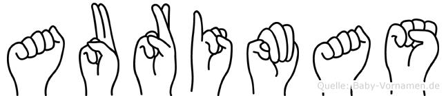Aurimas im Fingeralphabet der Deutschen Gebärdensprache