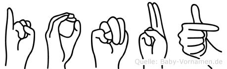 Ionut im Fingeralphabet der Deutschen Gebärdensprache