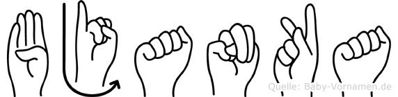 Bjanka in Fingersprache für Gehörlose