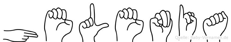 Helenia im Fingeralphabet der Deutschen Gebärdensprache