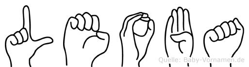 Leoba im Fingeralphabet der Deutschen Gebärdensprache