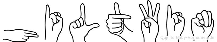 Hiltwin im Fingeralphabet der Deutschen Gebärdensprache