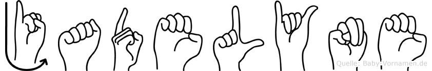 Jadelyne im Fingeralphabet der Deutschen Gebärdensprache