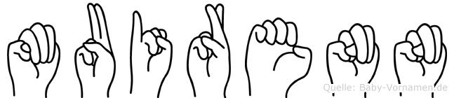 Muirenn in Fingersprache für Gehörlose