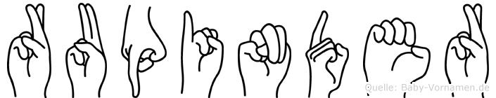 Rupinder in Fingersprache für Gehörlose