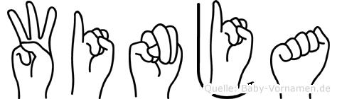 Winja in Fingersprache für Gehörlose