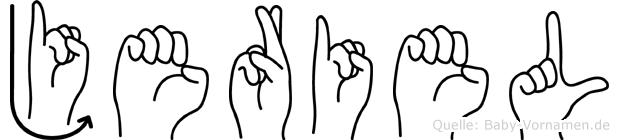Jeriel in Fingersprache für Gehörlose