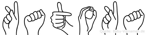 Katoka im Fingeralphabet der Deutschen Gebärdensprache