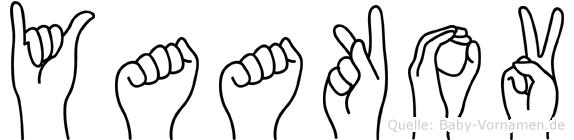 Yaakov im Fingeralphabet der Deutschen Gebärdensprache