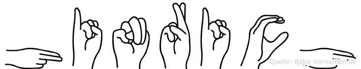 Hinrich in Fingersprache für Gehörlose