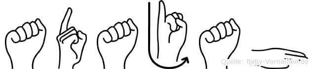 Adajah im Fingeralphabet der Deutschen Gebärdensprache