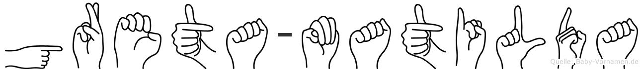 Greta-Matilda im Fingeralphabet der Deutschen Gebärdensprache