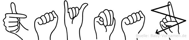 Taymaz im Fingeralphabet der Deutschen Gebärdensprache