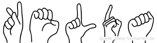 Kelda im Fingeralphabet der Deutschen Gebärdensprache