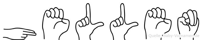Hellen in Fingersprache für Gehörlose