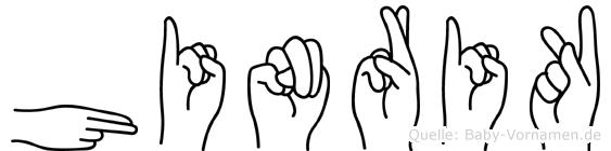 Hinrik in Fingersprache für Gehörlose