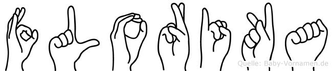 Florika im Fingeralphabet der Deutschen Gebärdensprache