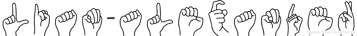 Liam-Alexander im Fingeralphabet der Deutschen Gebärdensprache
