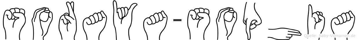 Soraya-Sophia im Fingeralphabet der Deutschen Gebärdensprache