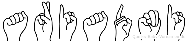 Ariadni in Fingersprache für Gehörlose