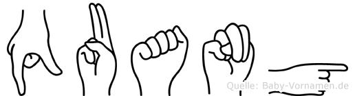 Quang in Fingersprache für Gehörlose