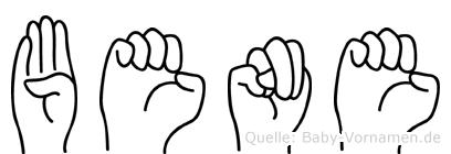 Bene im Fingeralphabet der Deutschen Gebärdensprache