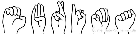 Ebrima in Fingersprache für Gehörlose