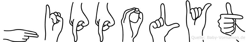 Hippolyt in Fingersprache für Gehörlose