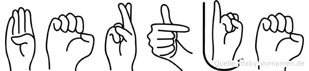 Bertje in Fingersprache für Gehörlose