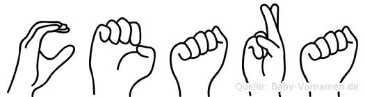 Ceara in Fingersprache für Gehörlose