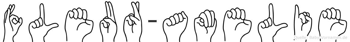 Fleur-Amelie im Fingeralphabet der Deutschen Gebärdensprache