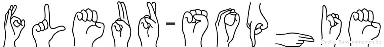 Fleur-Sophie im Fingeralphabet der Deutschen Gebärdensprache