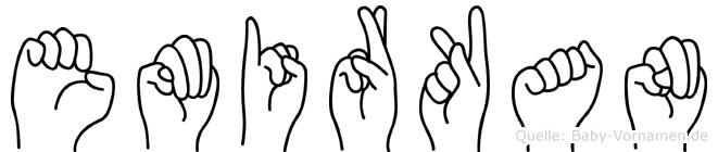 Emirkan im Fingeralphabet der Deutschen Gebärdensprache