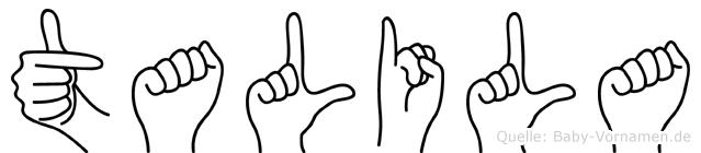 Talila in Fingersprache für Gehörlose