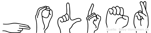 Holder im Fingeralphabet der Deutschen Gebärdensprache